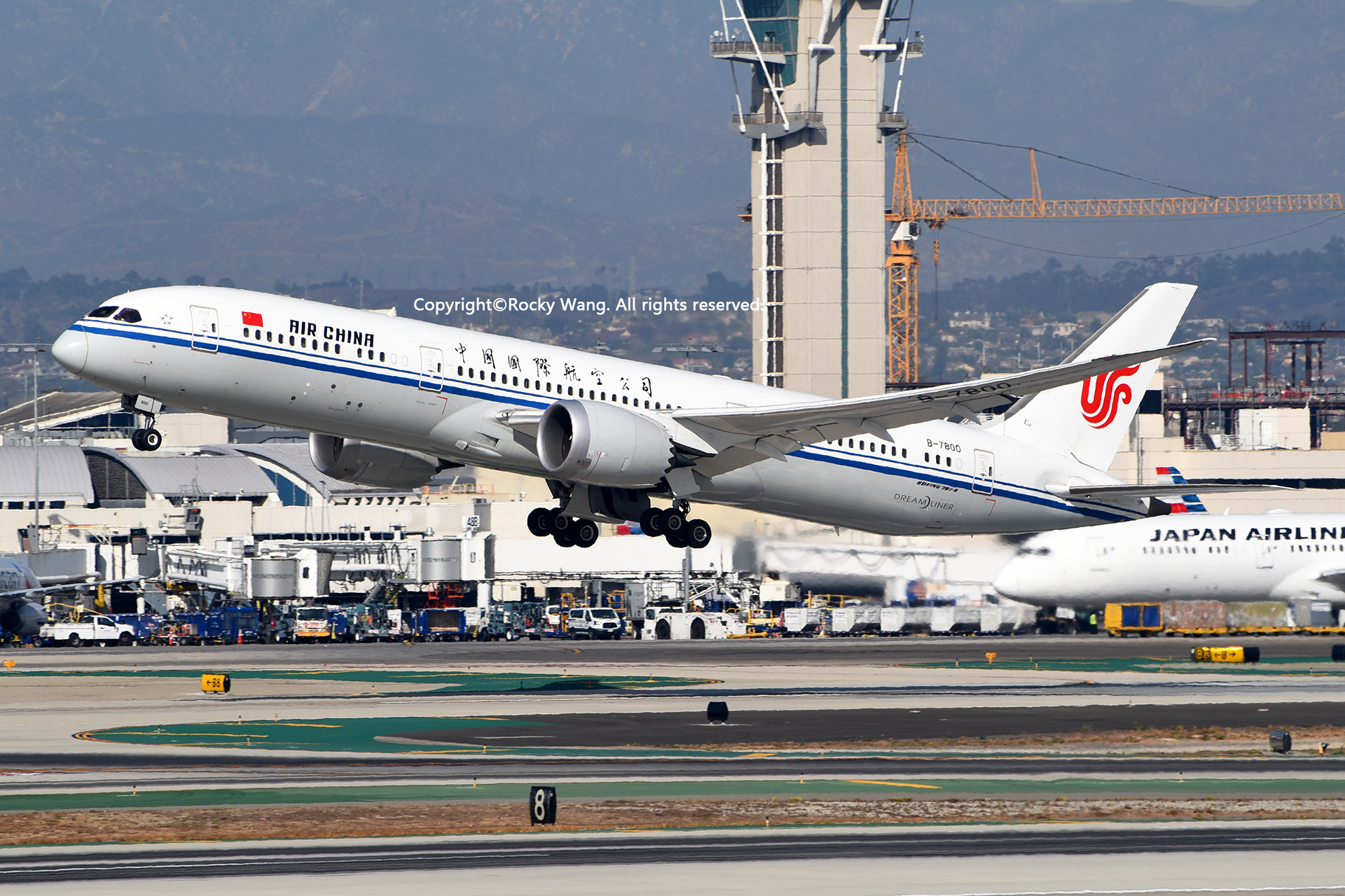 Re:[原创]随便来一组 不凑30图了 BOEING 787-9 DREAMLINER B-7800 Los Angeles Int'l Airport