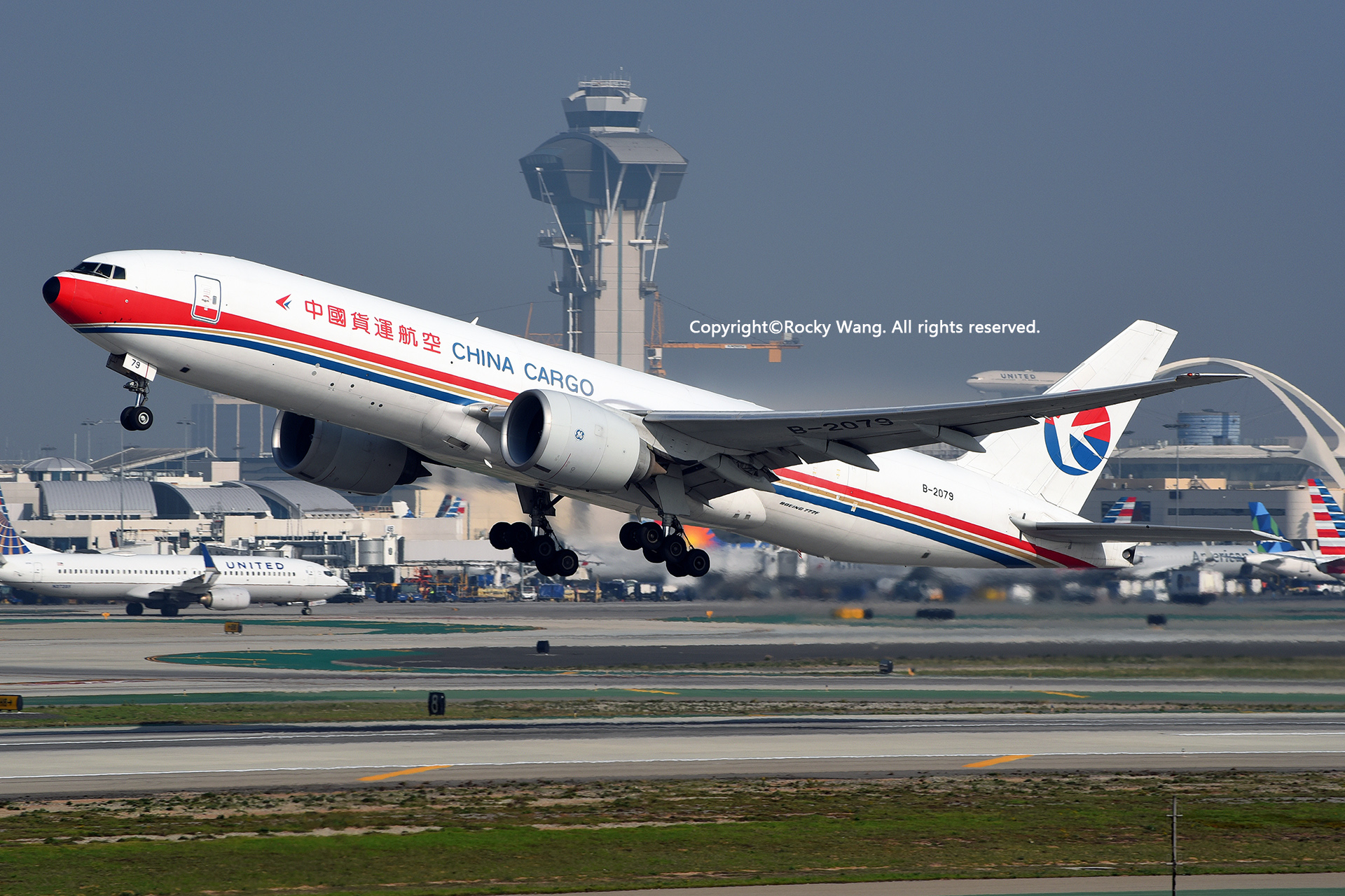 Re:[原创]随便来一组 不凑30图了 BOEING 777-F6N B-2079 Los Angeles Int'l Airport