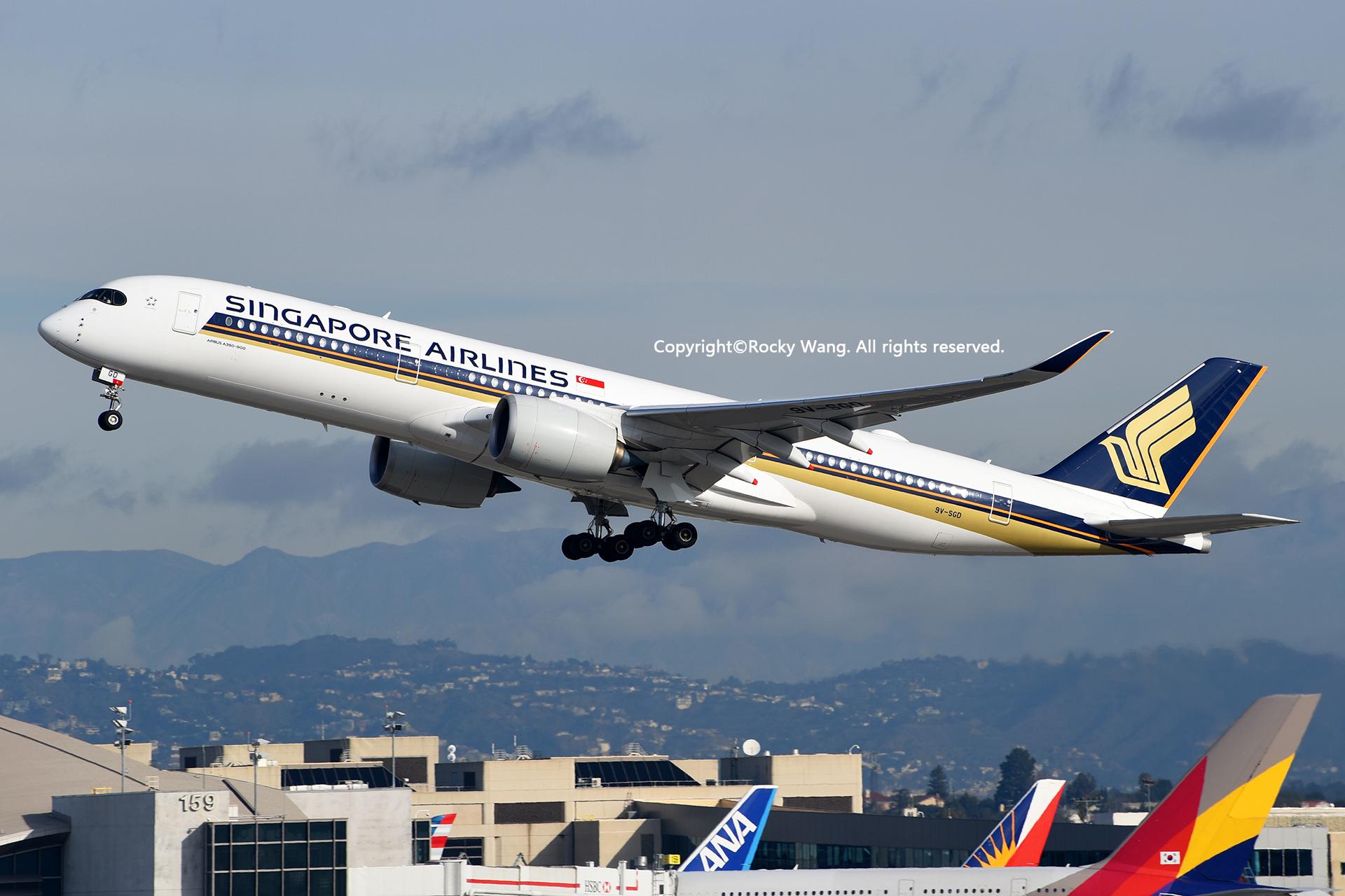Re:[原创]随便来一组 不凑30图了 AIRBUS A350-941 9V-SGD Los Angeles Int'l Airport
