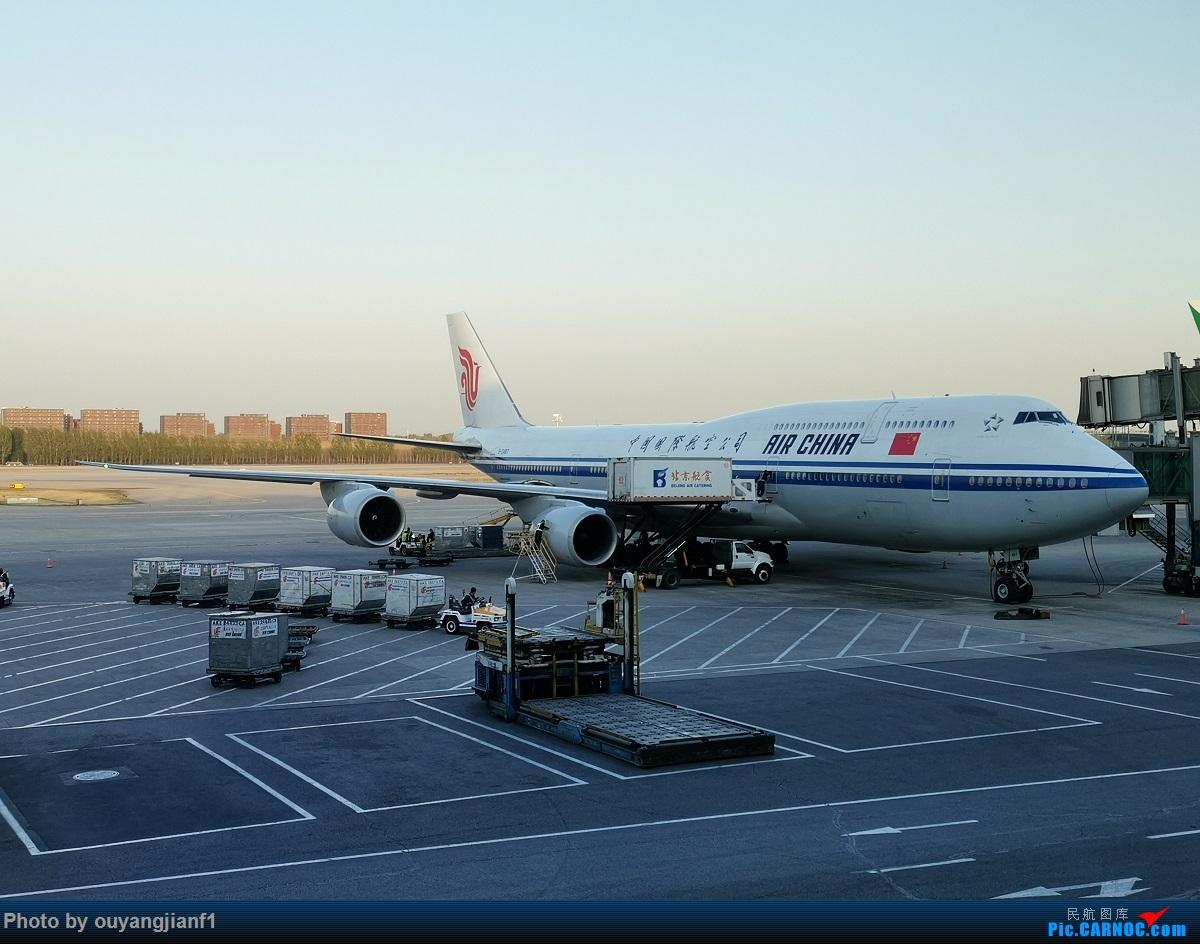 [原创]终于有时间歇下来了,可以好好总结一下2019年的飞机游记了,第二段,在Jet Airways停航的当天造访印度,附带AIR INDIA之初体验! BOEING 747-8I B-2487 中国北京首都国际机场