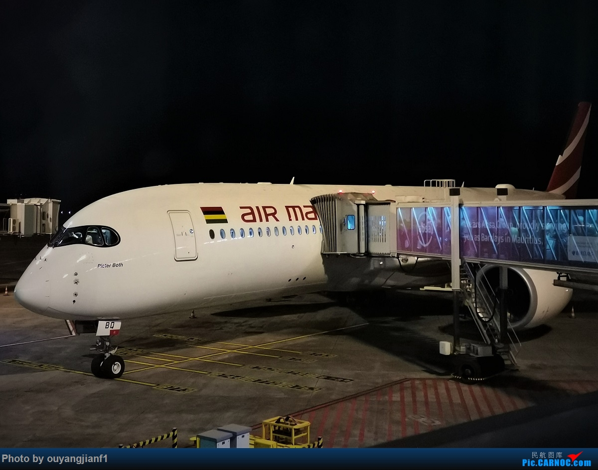 Re:[原创]终于有时间歇下来,可以好好总结一下2019年的飞机游记了,第三段,在新加坡参观星耀樟宜,在非洲穿行毛里求斯,在欧洲俯瞰大巴黎,第一次体验毛航359之旅1 AIRBUS A350-900 3B-NBQ 毛里求斯毛里求斯机场