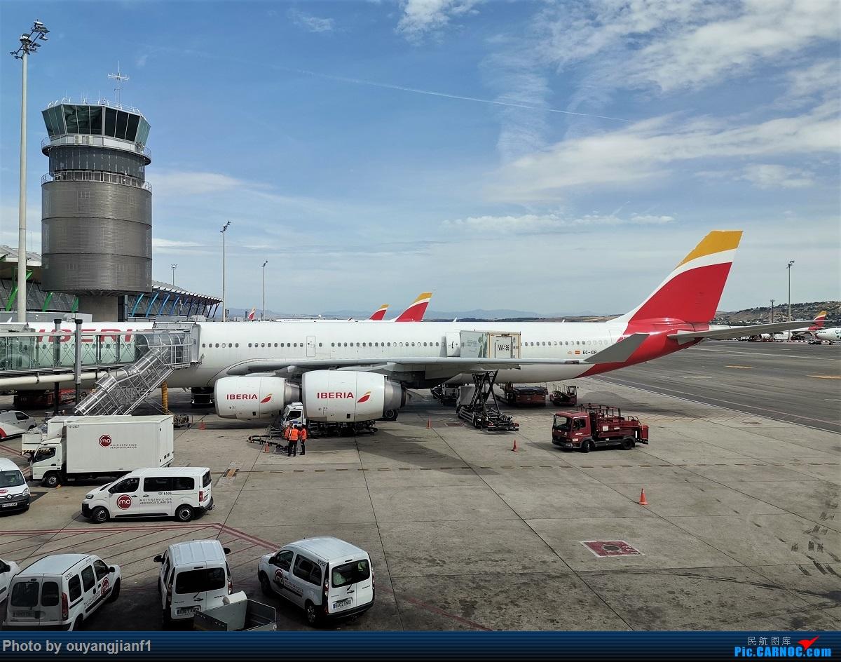 Re:[原创]终于有时间歇下来,可以总结一下2019年飞机游记了,第五段,最疯狂的飞行,十二天内十二飞,五万公里穿越亚、欧、美,去往地球另一端拉美世界的第二次环球飞行! AIRBUS A340-600 EC-IOB 西班牙马德里机场
