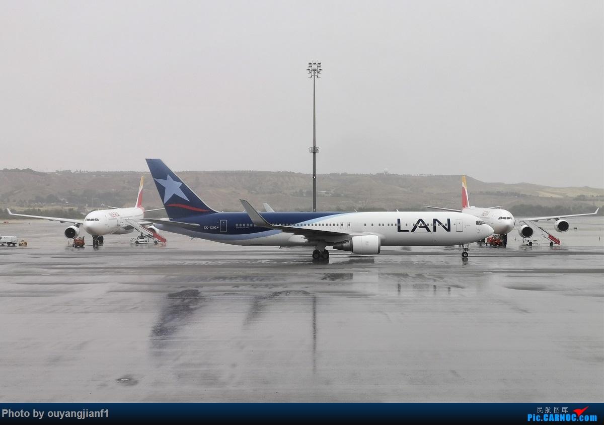 Re:[原创]终于有时间歇下来,可以总结一下2019年飞机游记了,第五段,最疯狂的飞行,十二天内十二飞,五万公里穿越亚、欧、美,去往地球另一端拉美世界的第二次环球飞行! BOEING 767-300ER CC-CXG 西班牙马德里机场
