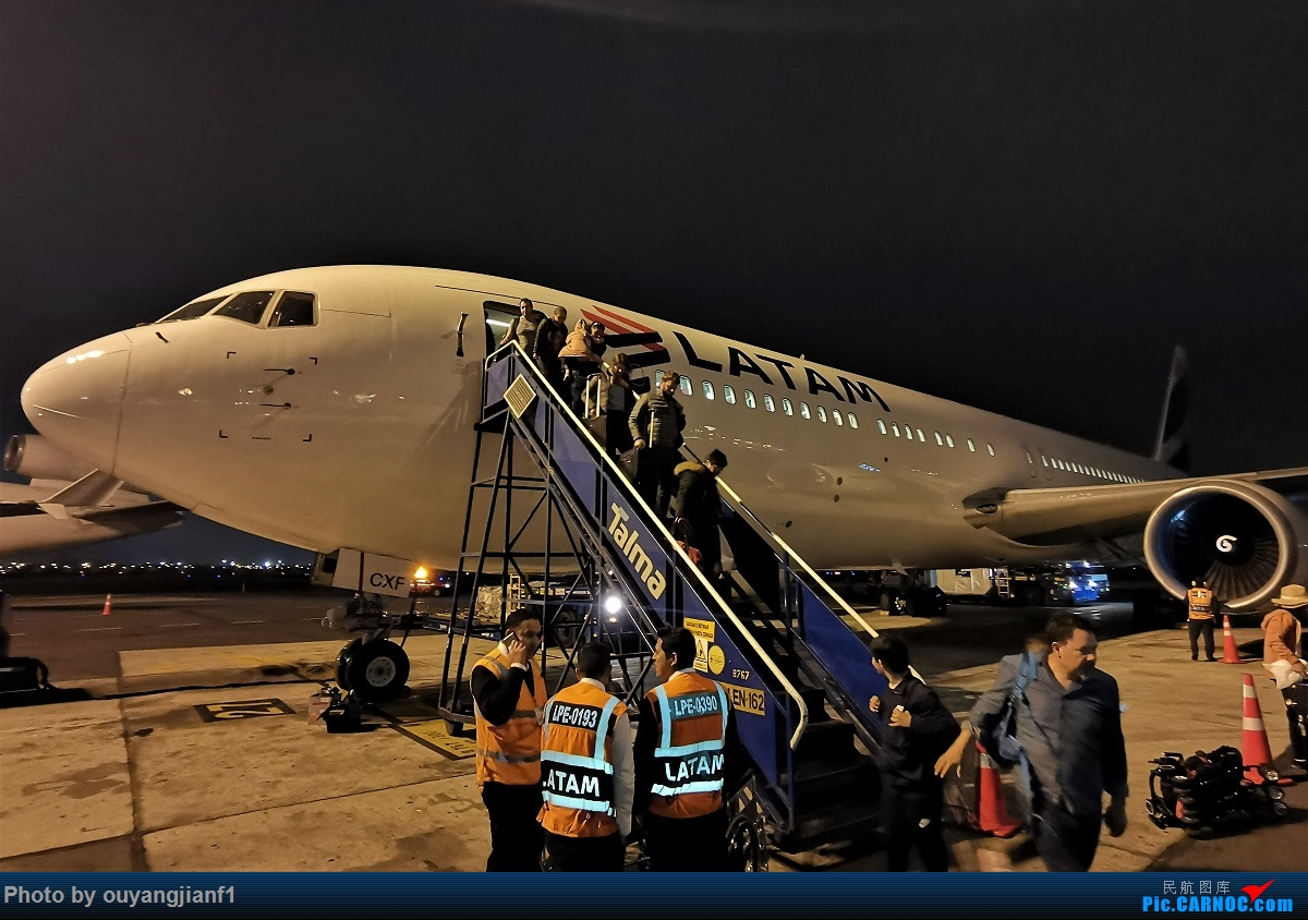 Re:[原创]终于有时间歇下来,可以总结一下2019年飞机游记了,第五段,最疯狂的飞行,十二天内十二飞,五万公里穿越亚、欧、美,去往地球另一端拉美世界的第二次环球飞行! BOEING 767-300ER CC-CXF 秘鲁利马机场