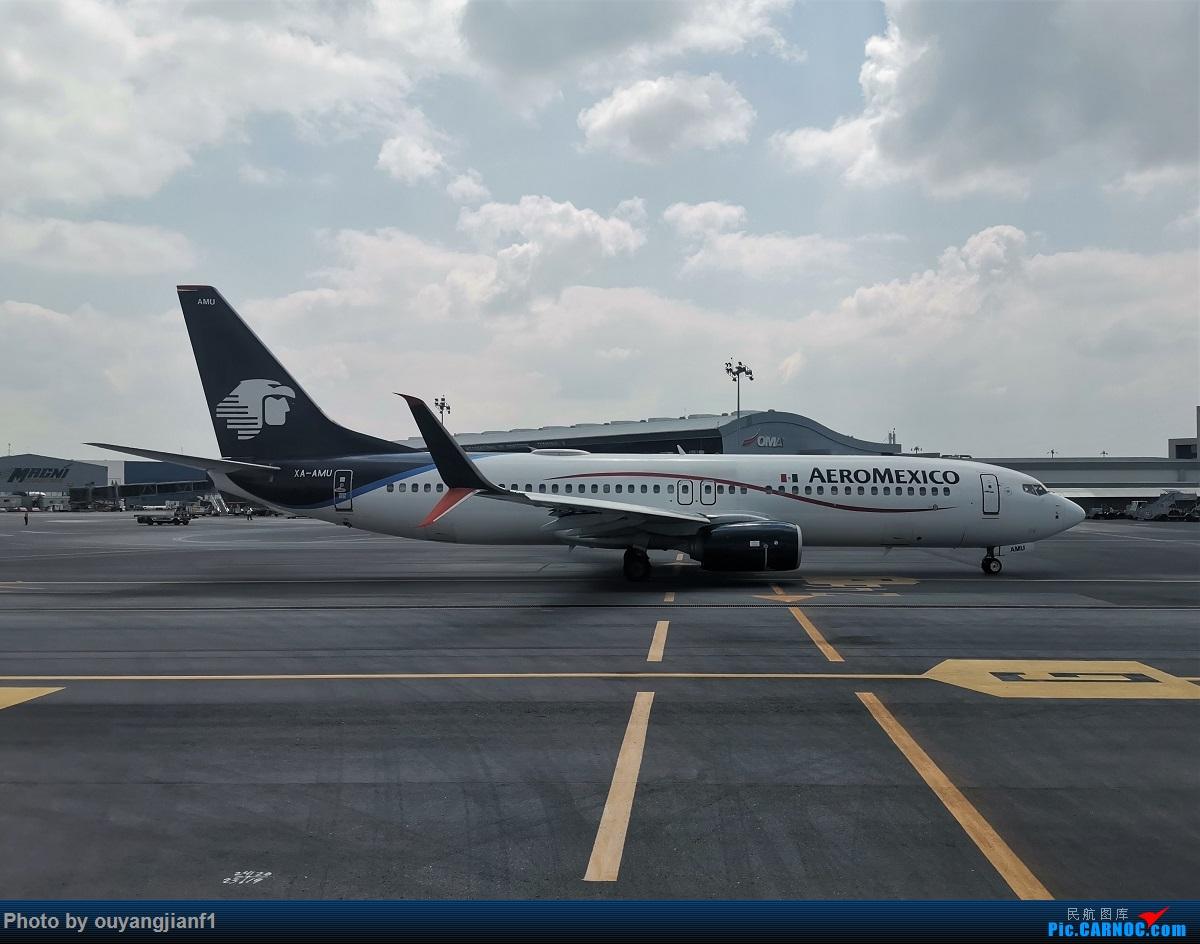 Re:[原创]终于有时间歇下来,可以总结一下2019年飞游记了,第五段,最疯狂的飞行,十二天内十二飞,五万公里穿越亚、欧、美,去往地球另一端拉美世界的第二次环球飞行! BOEING 737-800 XA-AXU 墨西哥蒙特雷国际机场