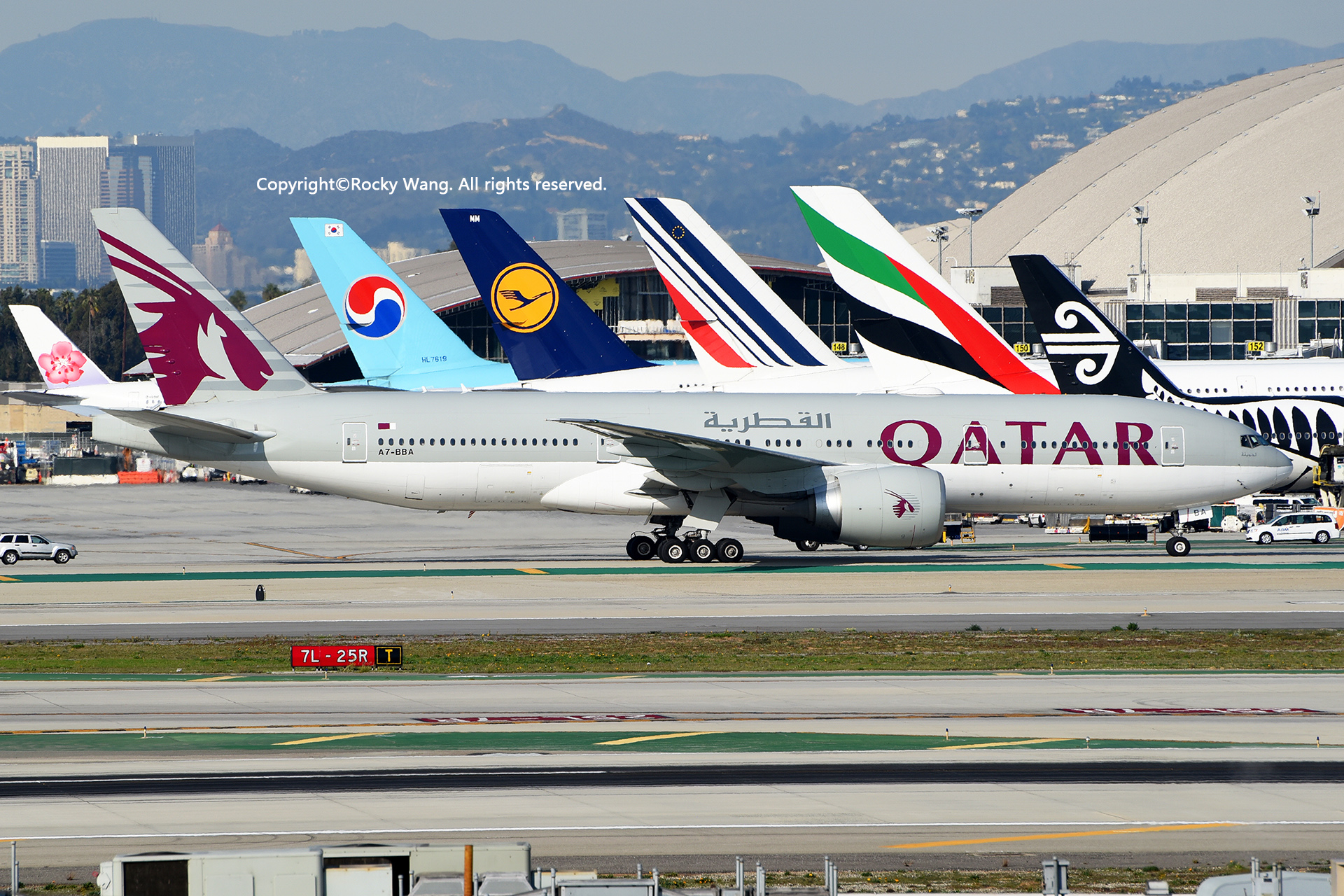 Re:[原创]居家了 批量处理老图 倾情奉献52家777 BOEING 777-2DZLR A7-BBA Los Angeles Int'l Airport