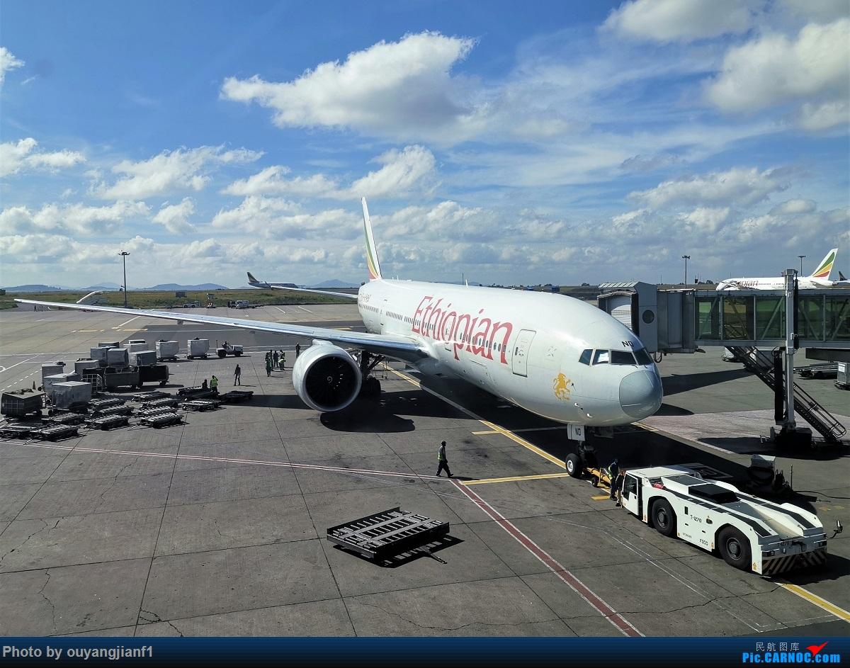 Re:[原创]终于有时间歇下来,可以好好总结一下2019年飞行游记了,第五段:一周之内的中东非洲之行,体验真土豪科威特航空,奇葩航沙特航空,动荡之下造访埃塞俄比亚航空总部! BOEING 777-200LR ET-ANO 埃塞俄比亚亚的斯亚贝巴博莱机场