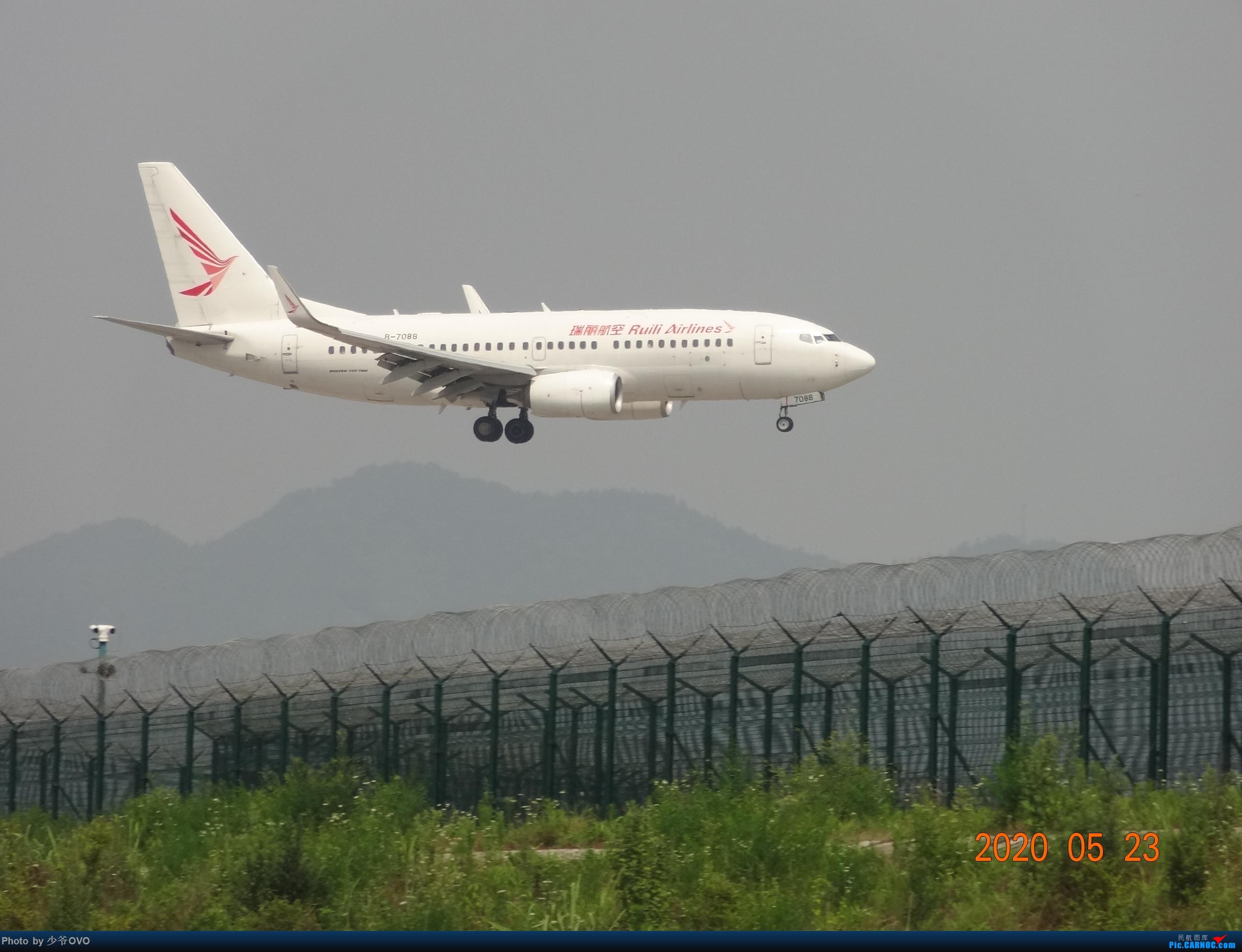 [原创]CKG重庆江北机场拍机,爱CHINA77W BOEING 737-700 B-7088 重庆江北机场