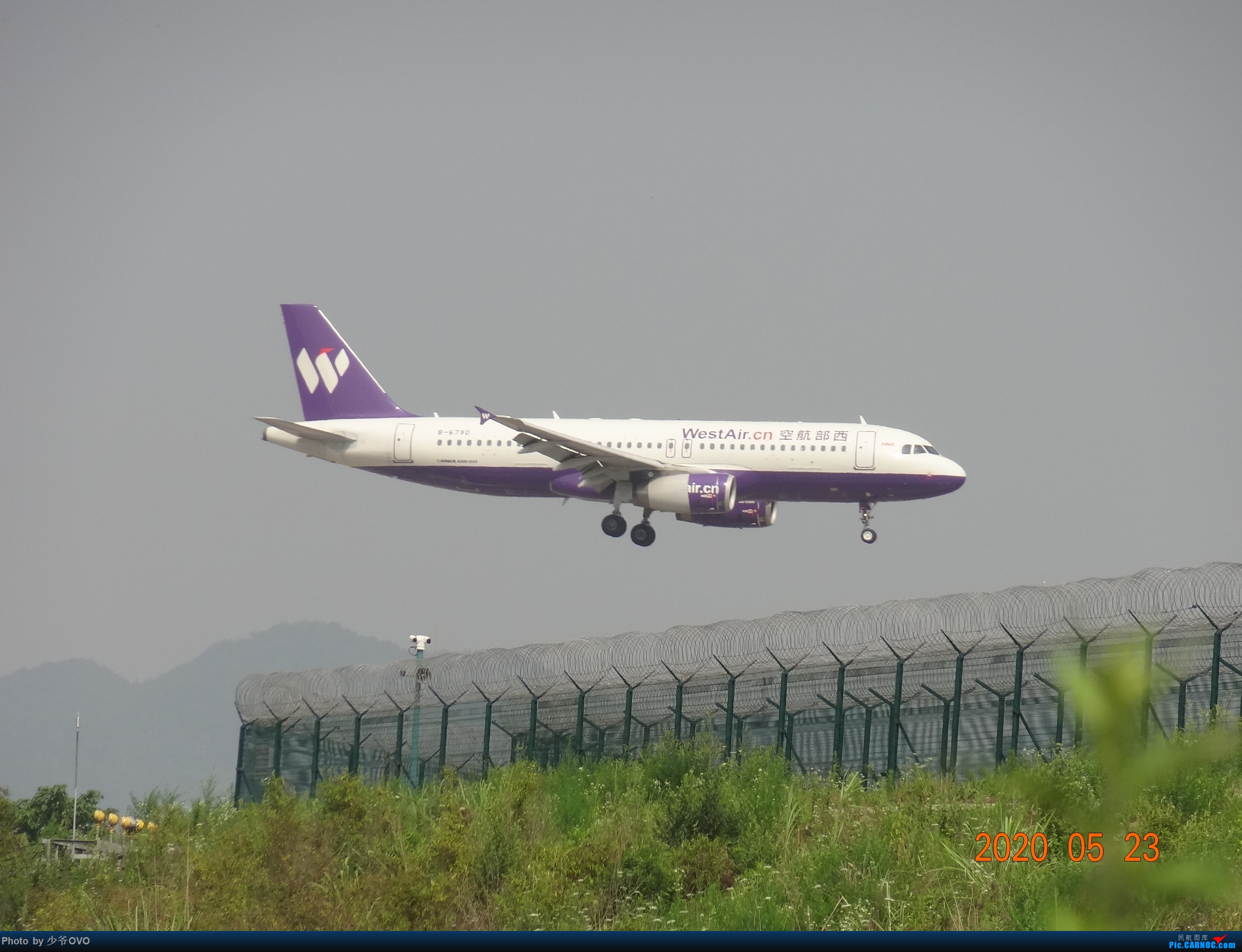 Re:[原创]CKG重庆江北机场拍机,爱CHINA77W AIRBUS A320-200 B-6790 重庆江北机场