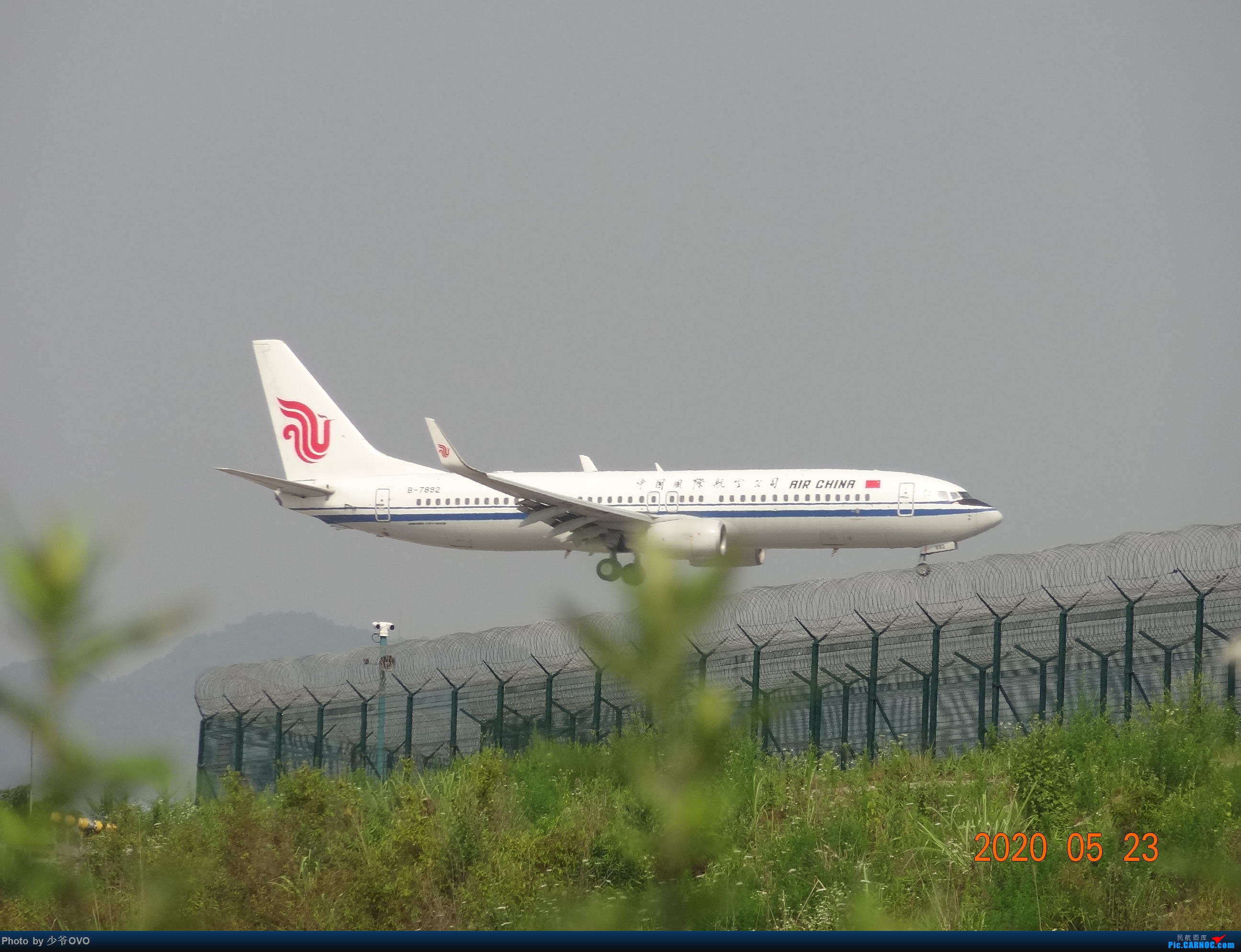 Re:[原创]CKG重庆江北机场拍机,爱CHINA77W BOEING 737-800 B-7892 重庆江北机场