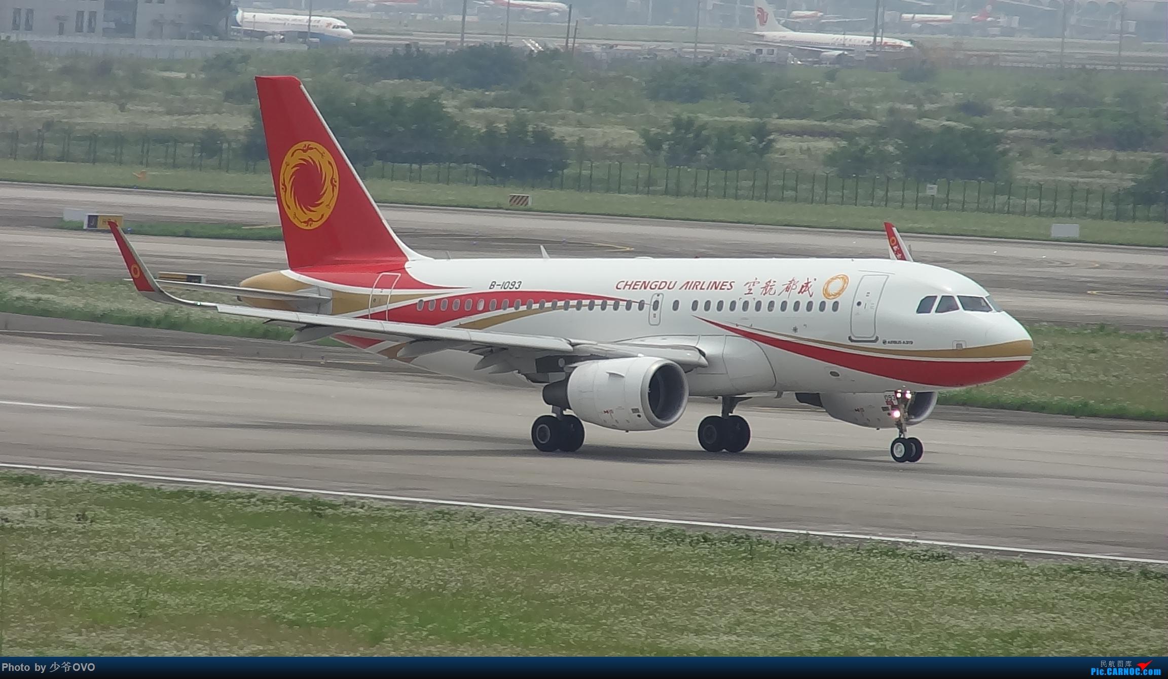 [原创]CKG重庆江北机场拍机,国航744,B-2447,和一群大佬拍机 AIRBUS A319-100 B-1093 中国重庆江北国际机场
