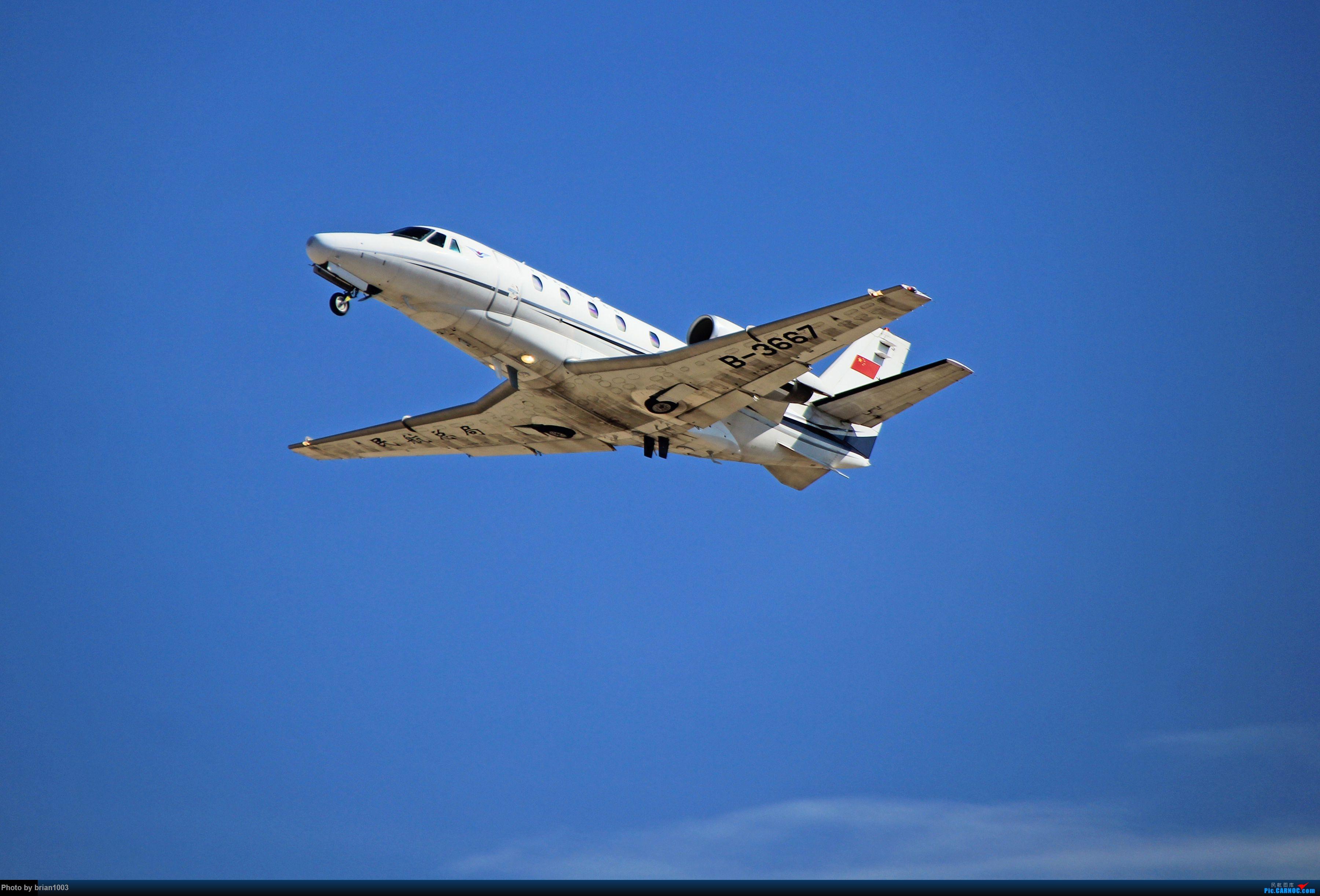 Re:[原创]WUH天河机场拍机之六月还有啥(X7家744F、天津大韩港龙333、巴基斯坦772、B6419) CESSNA 560XL B-3667 中国武汉天河国际机场