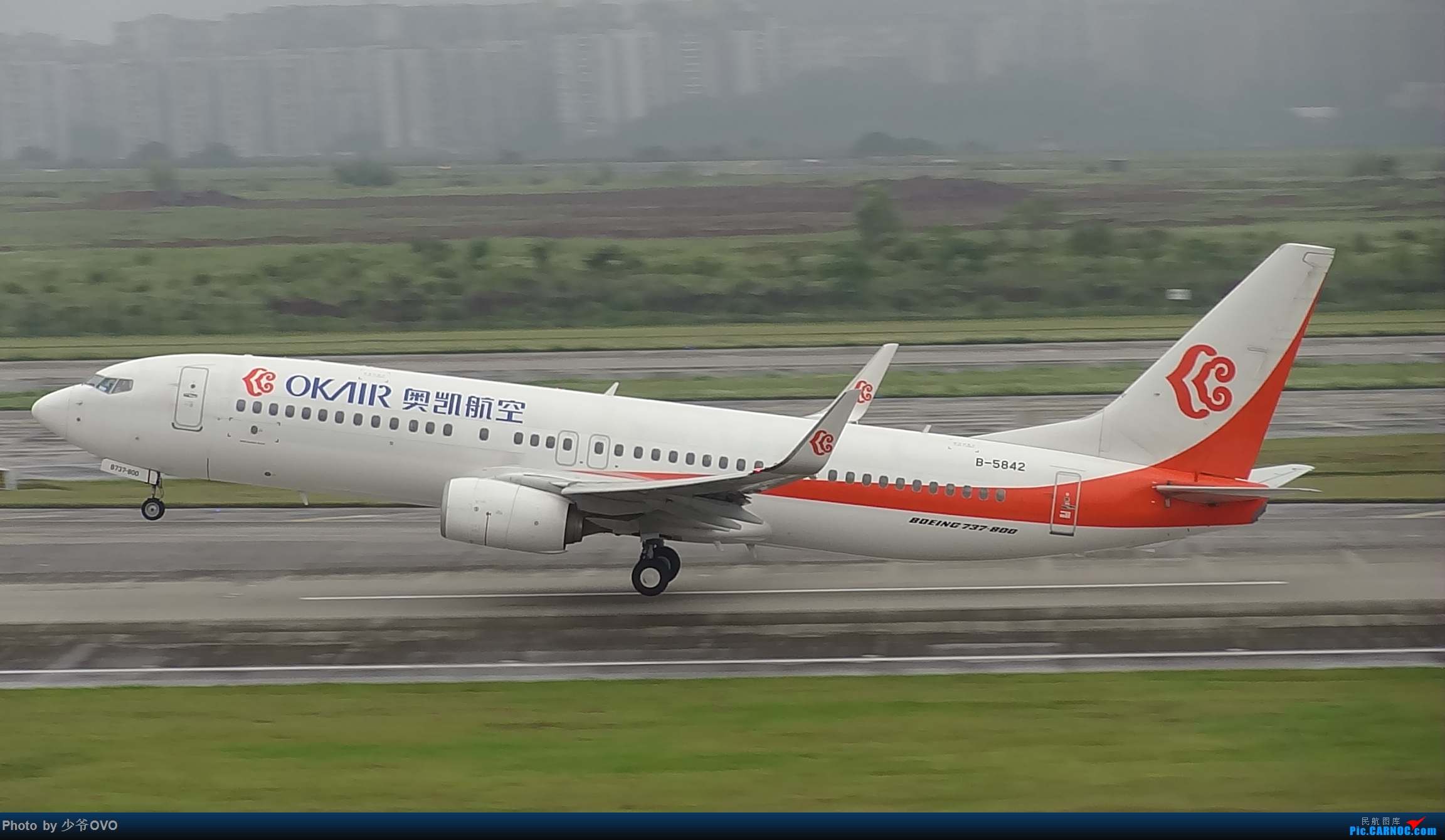 Re:[原创]CKG重庆江北机场拍机 ,中法建交50周年 BOEING 737-800 B-5842 中国重庆江北国际机场