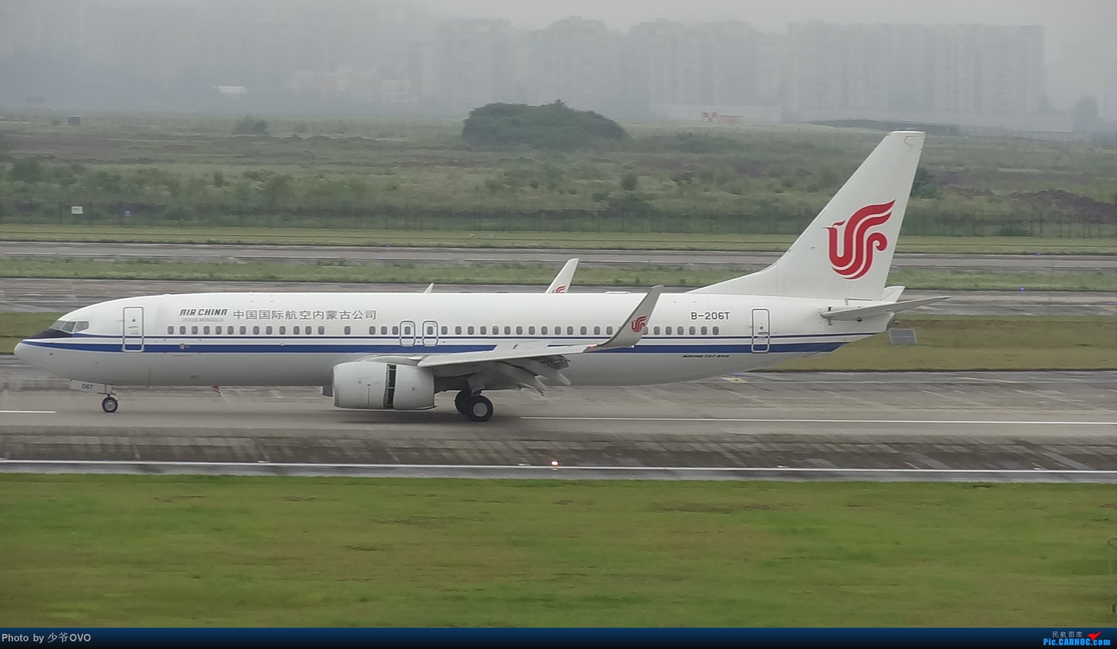 Re:[原创]CKG重庆江北机场拍机 ,中法建交50周年 BOEING 737-800 B-206T 中国重庆江北国际机场