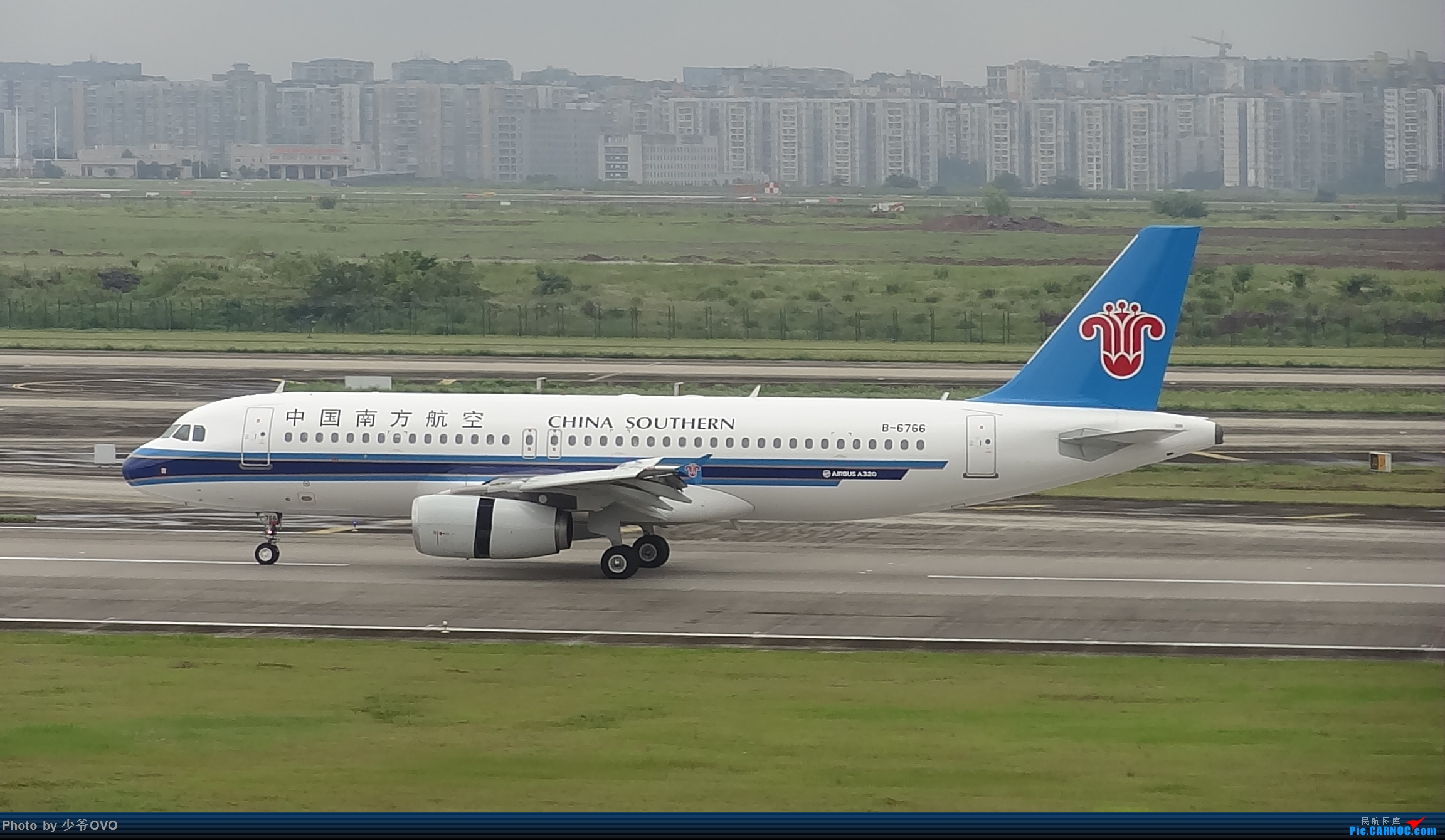 Re:[原创]CKG重庆江北机场拍机 ,中法建交50周年 AIRBUS A320-200 B-6766 中国重庆江北国际机场