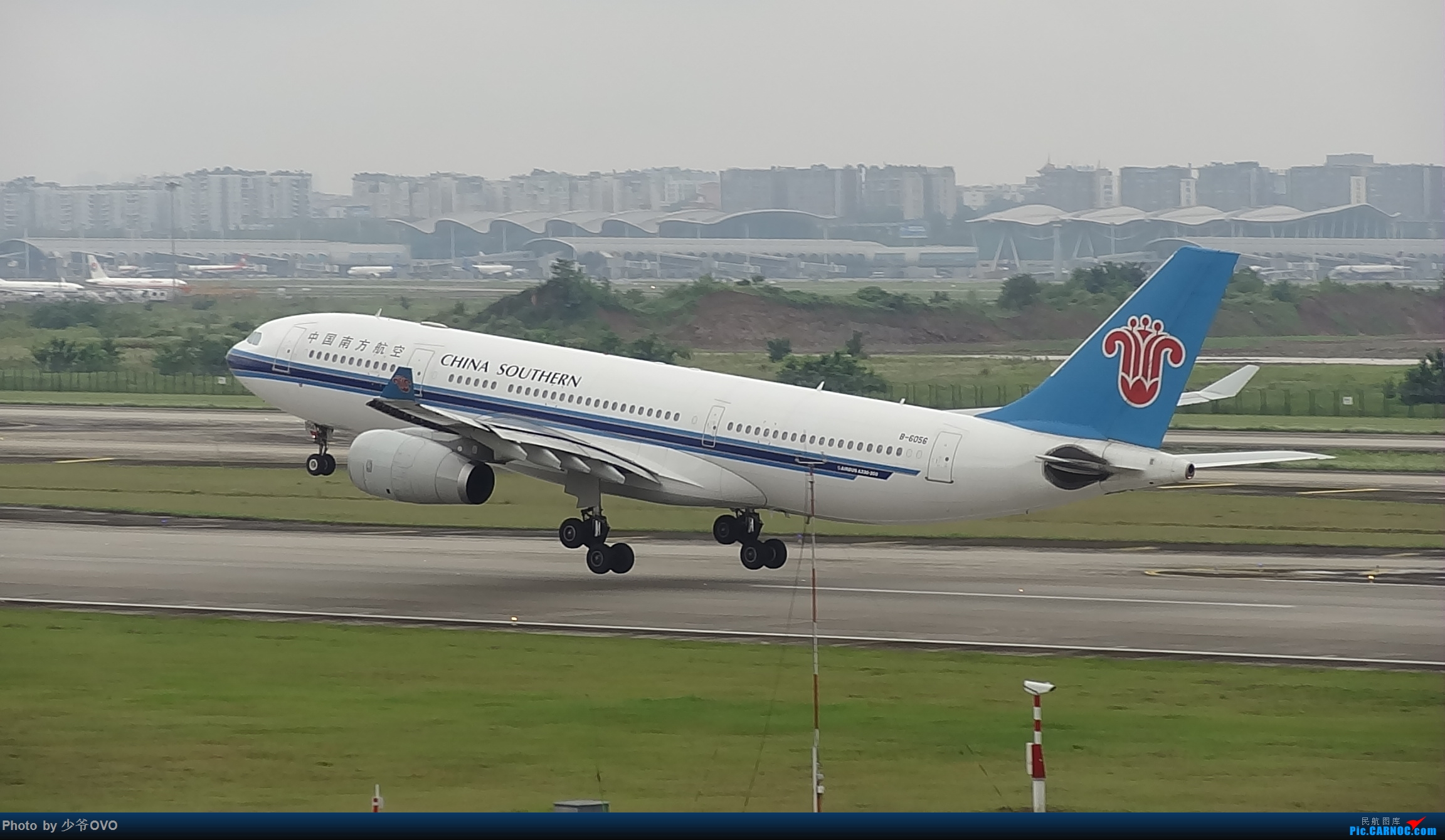 Re:[原创]CKG重庆江北机场拍机 ,中法建交50周年 AIRBUS A330-200 B-6056 中国重庆江北国际机场