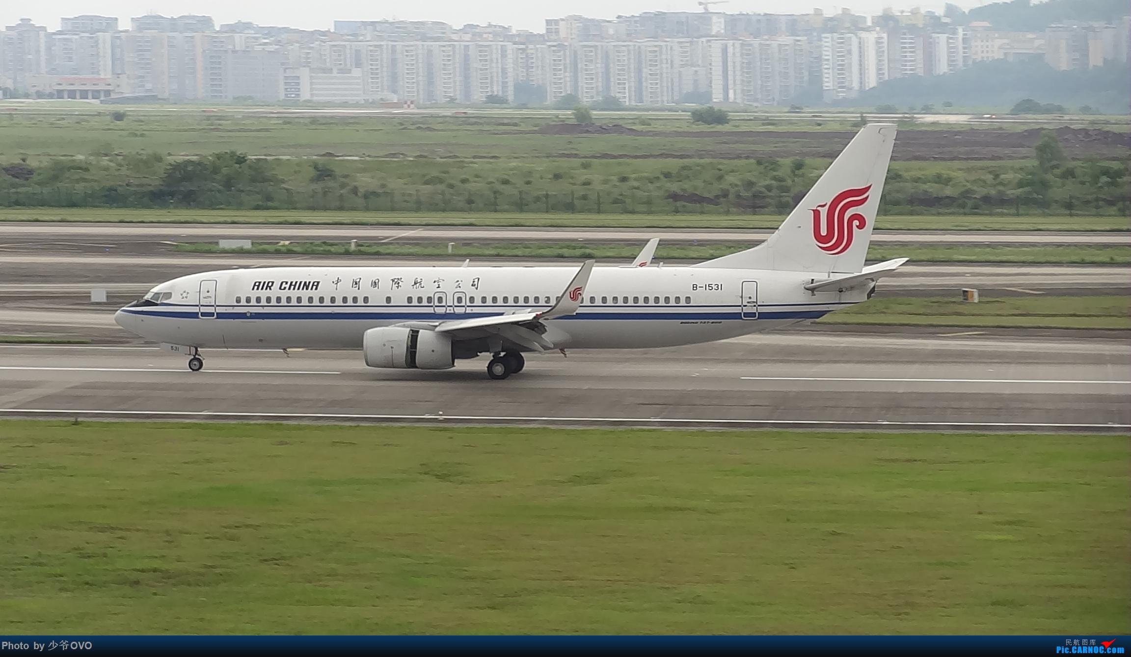 Re:[原创]CKG重庆江北机场拍机 ,中法建交50周年 BOEING 737-800 B-1531 中国重庆江北国际机场