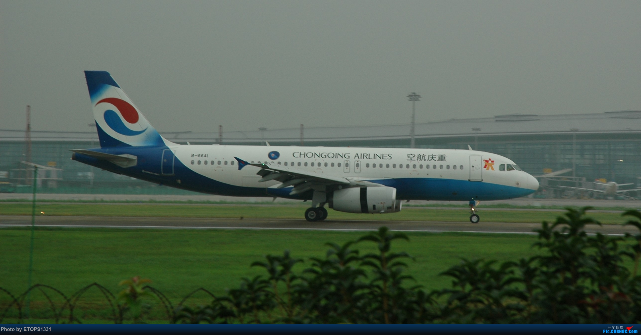 Re:[原创]NGB水泥天拍机 AIRBUS A320-200 B-6641 宁波机场