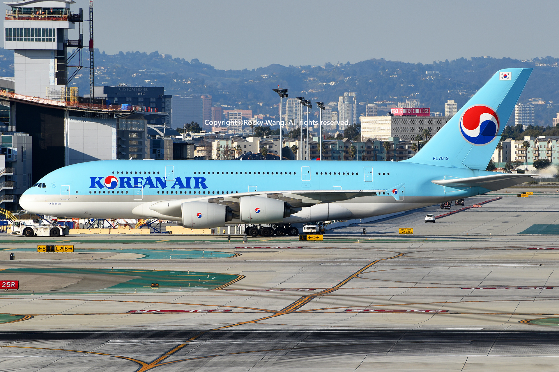 Re:[原创]LAX-暖冬与残夏 AIRBUS A380-861 HL7619 Los Angeles Int'l Airport