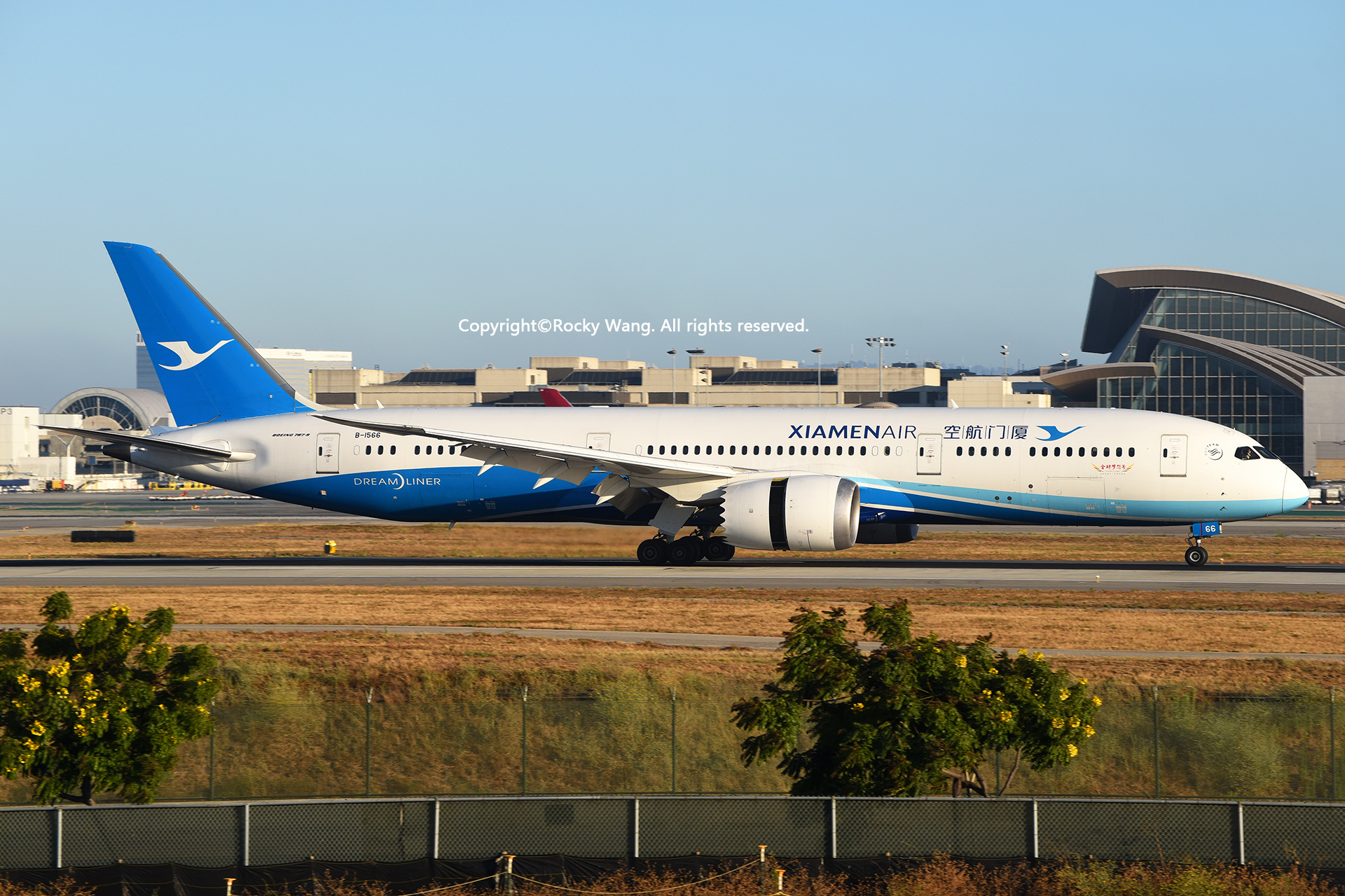 Re:[原创]LAX-暖冬与残夏 BOEING 787-9 DREAMLINER B-1566 Los Angeles Int'l Airport