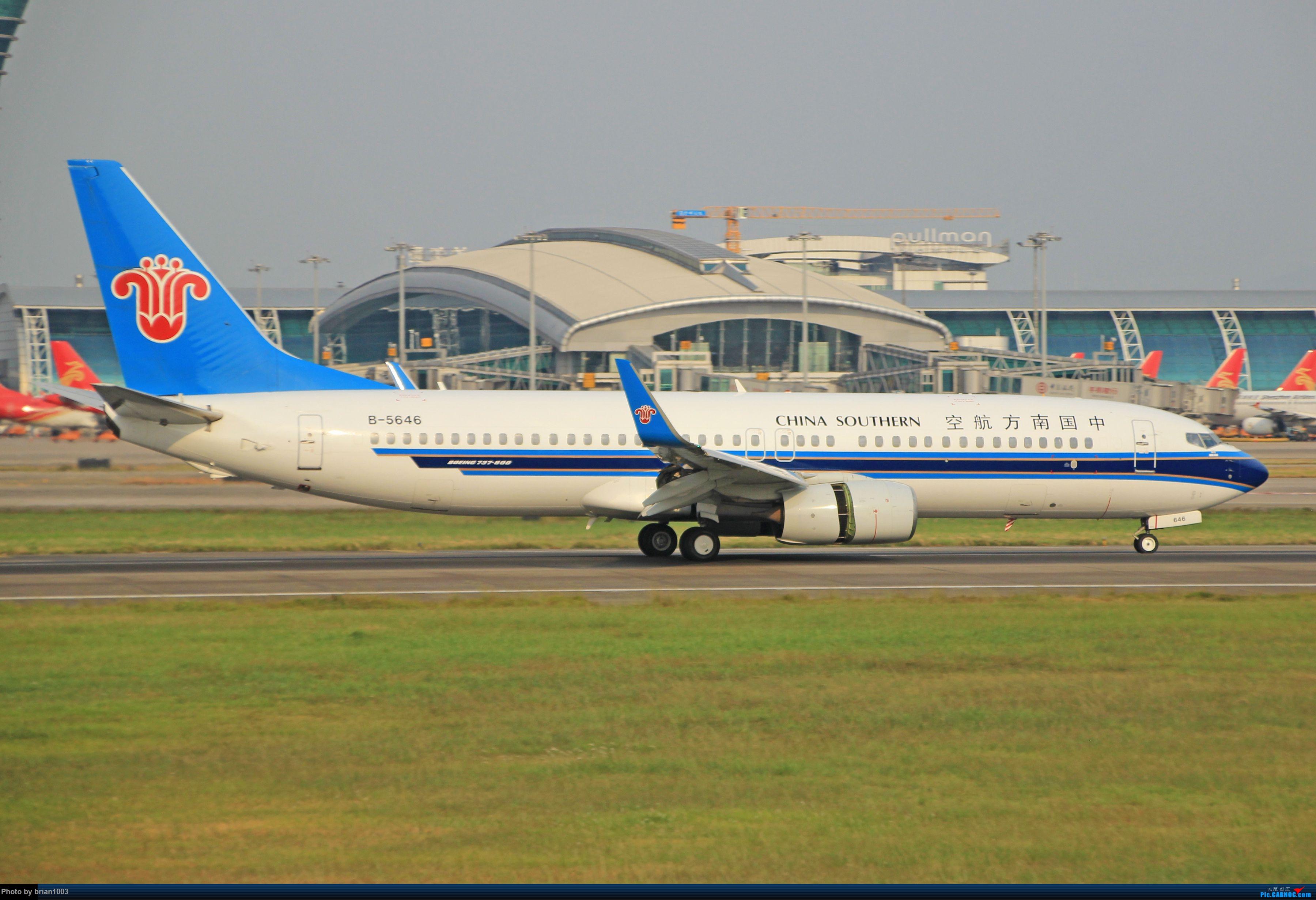 """Re:千里赴""""粤""""来拍机 BOEING 737-800 B-5646 中国广州白云国际机场"""