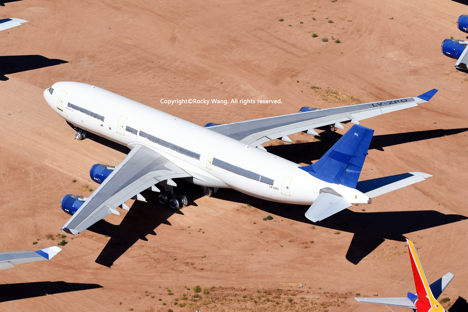 Re:[原创]沙漠29图+彩蛋 AIRBUS A340-211 LV-ZPO Victorville-Southern California Logistic