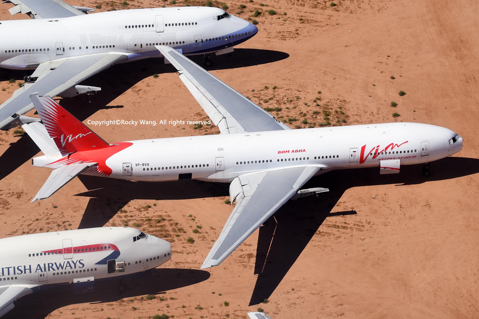 Re:[原创]沙漠29图+彩蛋 BOEING 777-2H6(ER) VP-BVA Victorville-Southern California Logistic