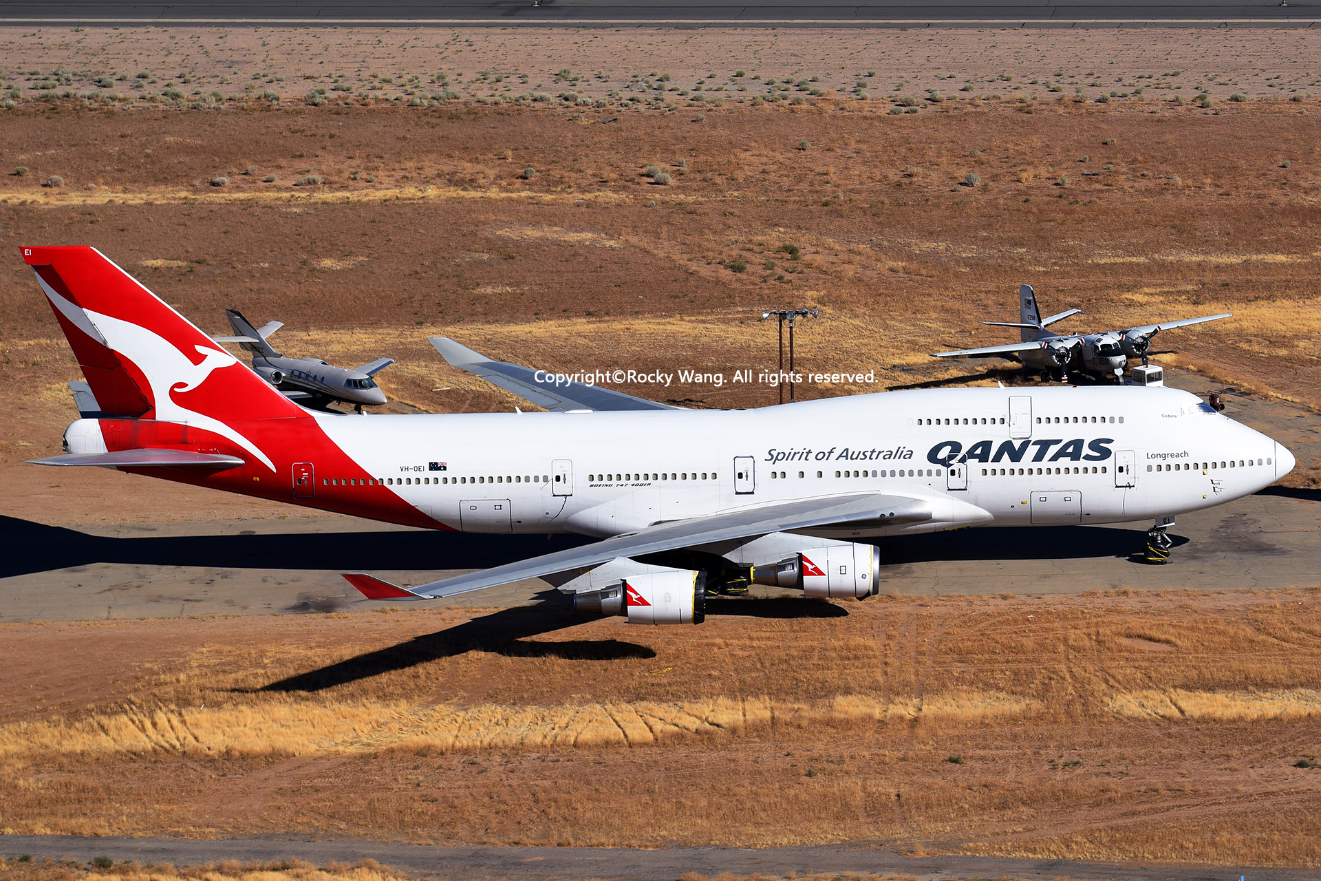Re:[原创]沙漠29图+彩蛋 BOEING 747-438ER VH-OEI Mojave Airport
