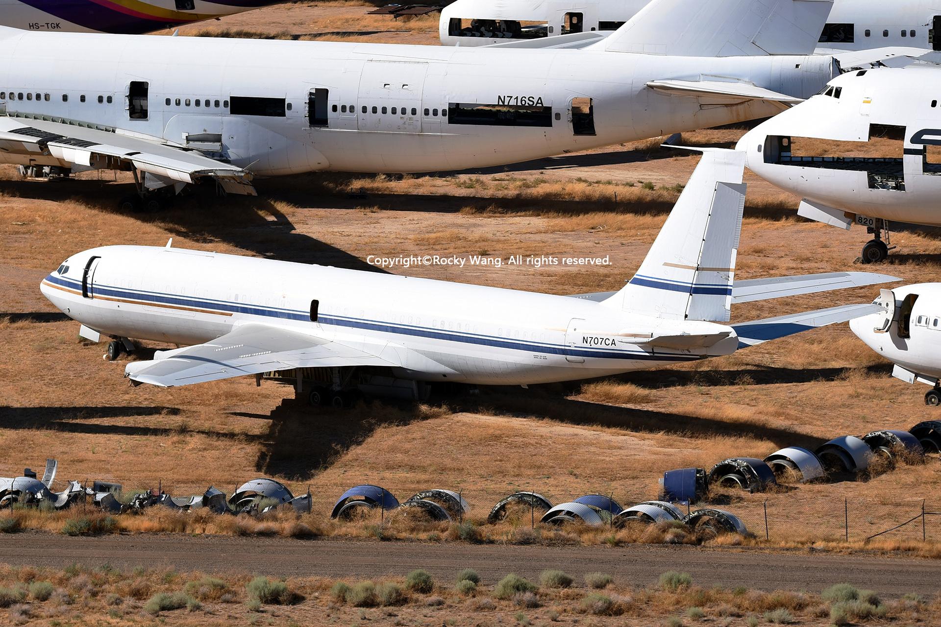 Re:[原创]沙漠29图+彩蛋 BOEING 707-351B N707CA Mojave Airport
