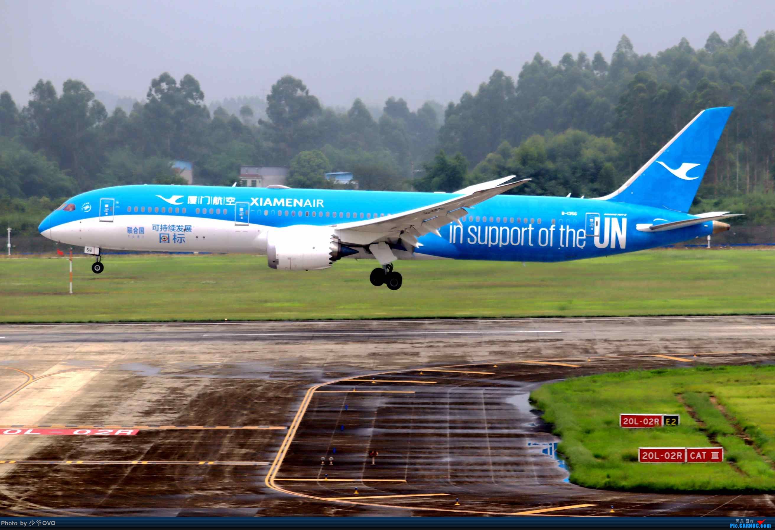 Re:[原创](2020.8.1)少爷的CTU拍机(厦门航空联合国787) BOEING 787-9 B-1356 中国成都双流国际机场