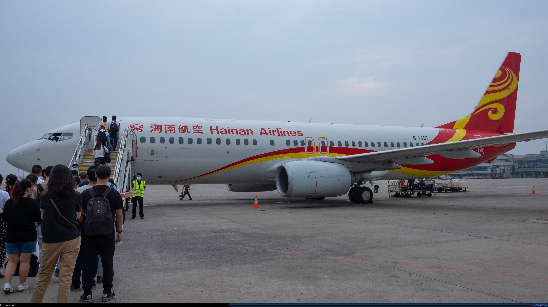 Re:[原创]后疫情期间的暑假国内游 | 西安-上海-广州-成都 | 体验国内3条干线 | 吉祥航空787 | 南航350 | 海航737 BOEING 737-800 B-1497 中国西安咸阳国际机场