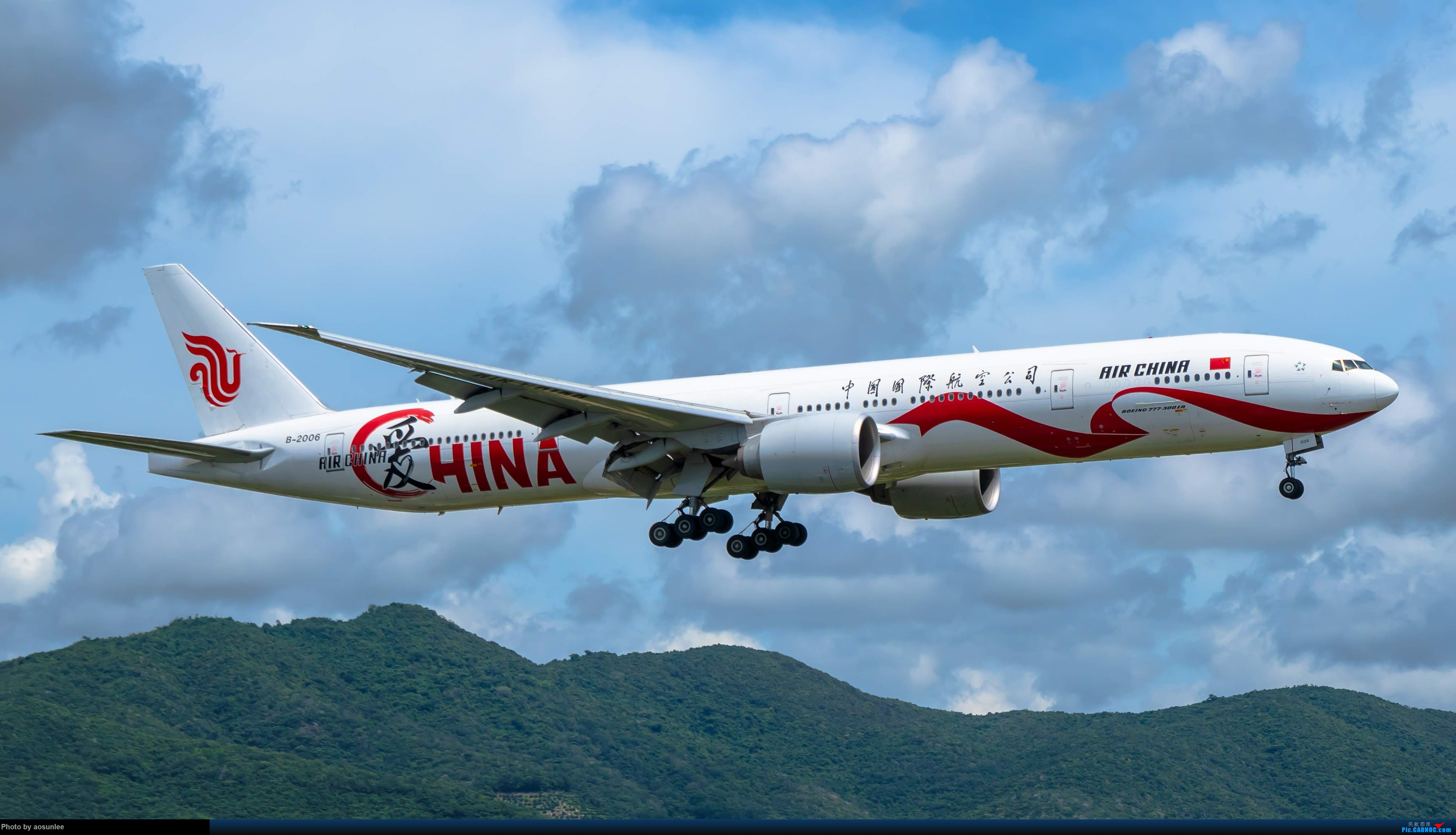 9.12SYX 国航B2006爱CHINA BOEING 777-300ER B-2006 中国三亚凤凰国际机场