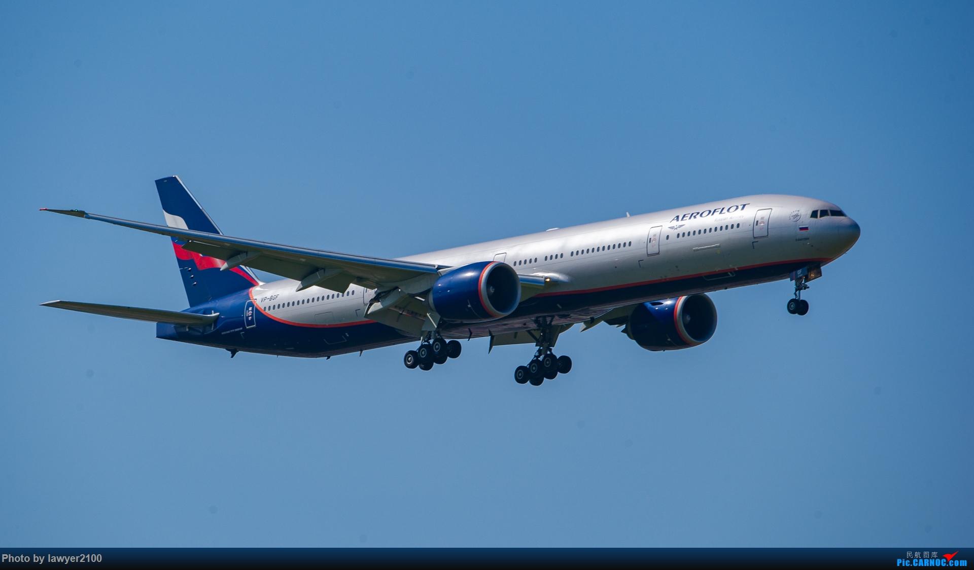 [原创]PVG的俄航777-300ER BOEING 777-300ER VP-BGF 中国上海浦东国际机场