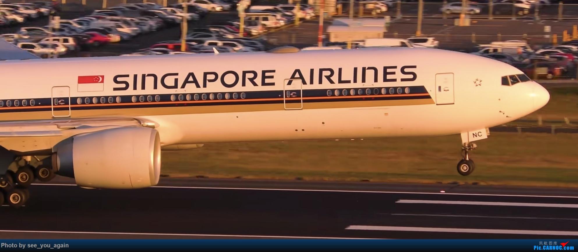 [原创]冒个泡 BOEING 777 9V-SNC 澳大利亚墨尔本机场