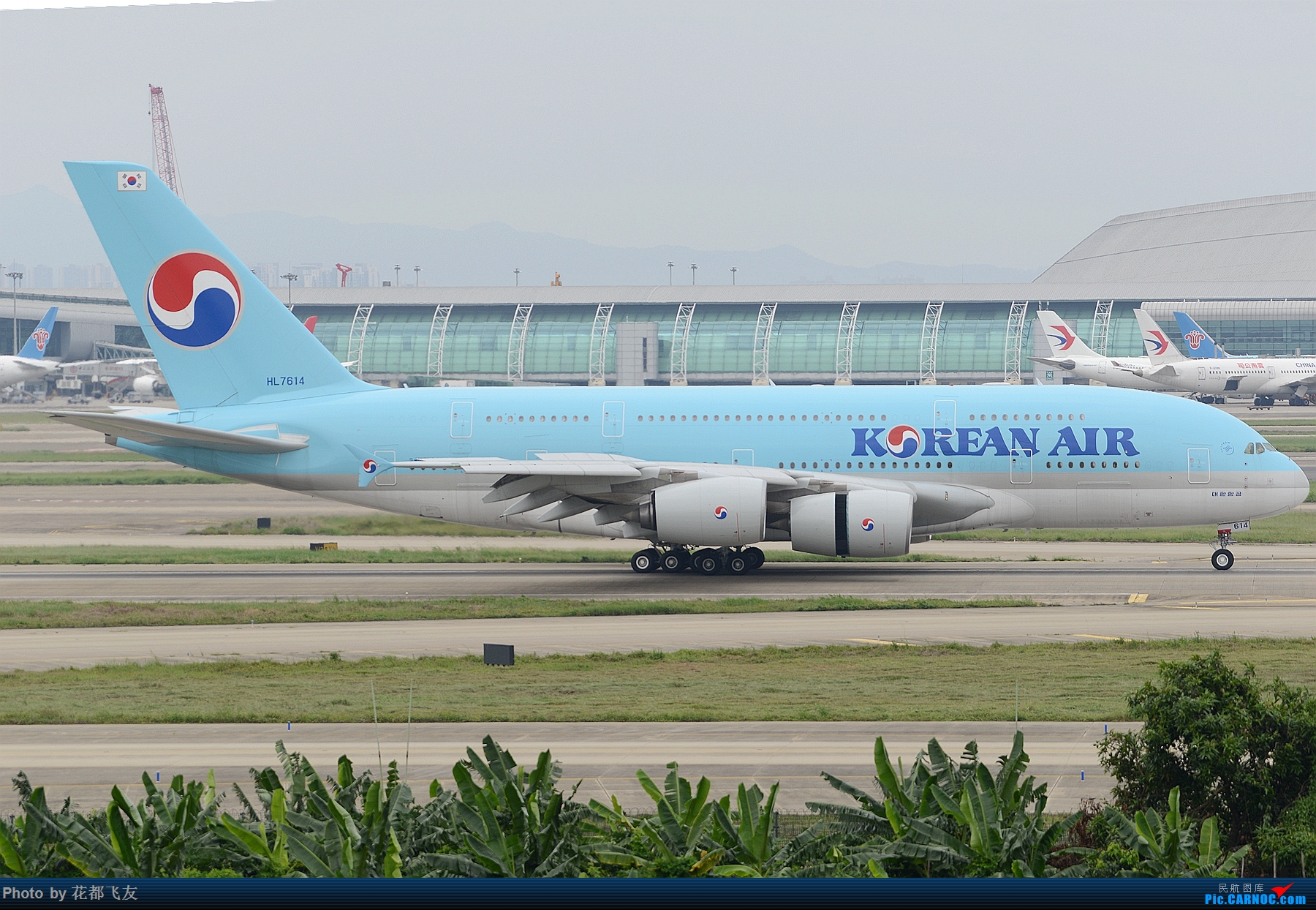CAN大韩航空380 AIRBUS A380-800 HL7614 中国广州白云国际机场