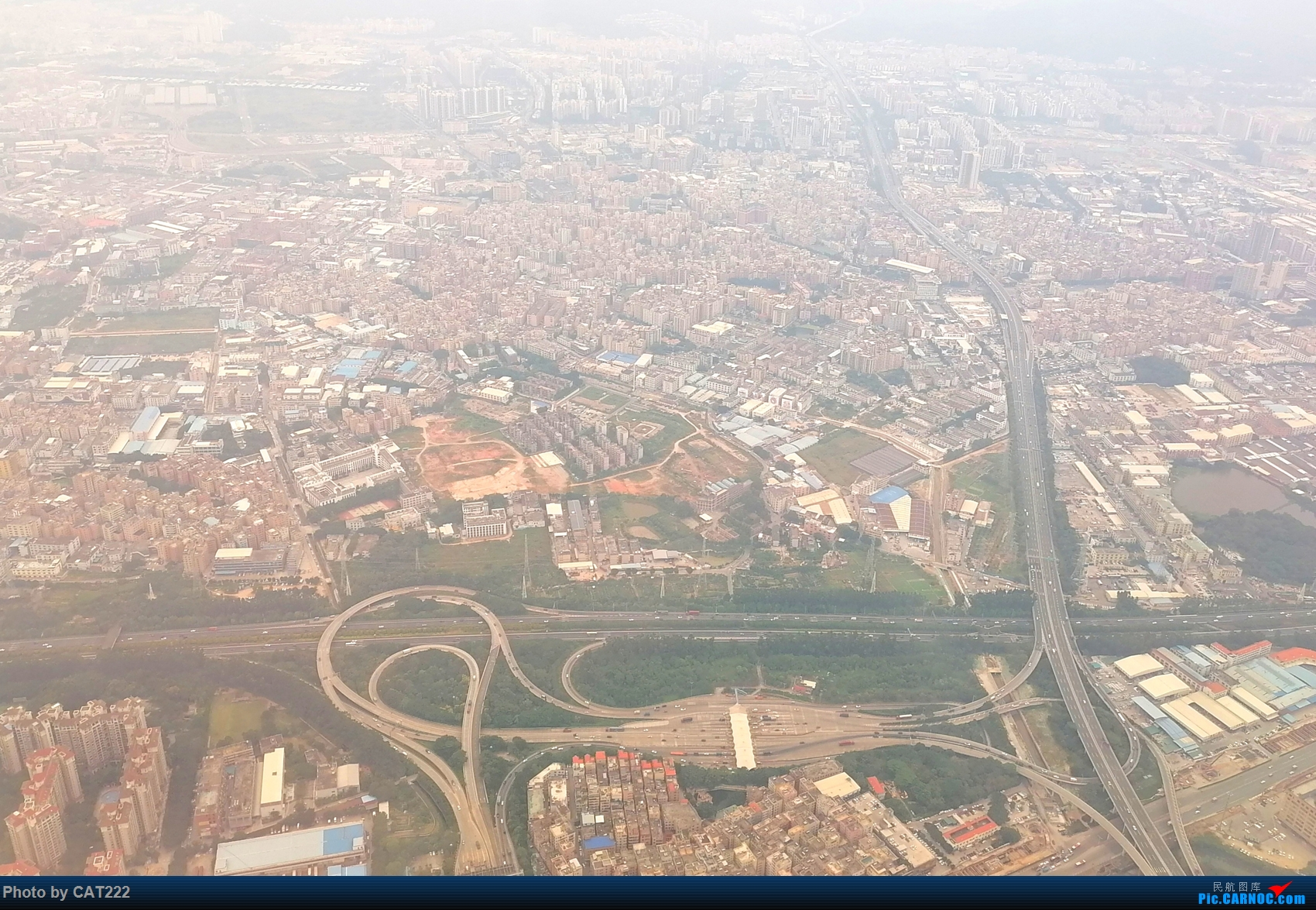 Re:飞机上拍摄广州城区。