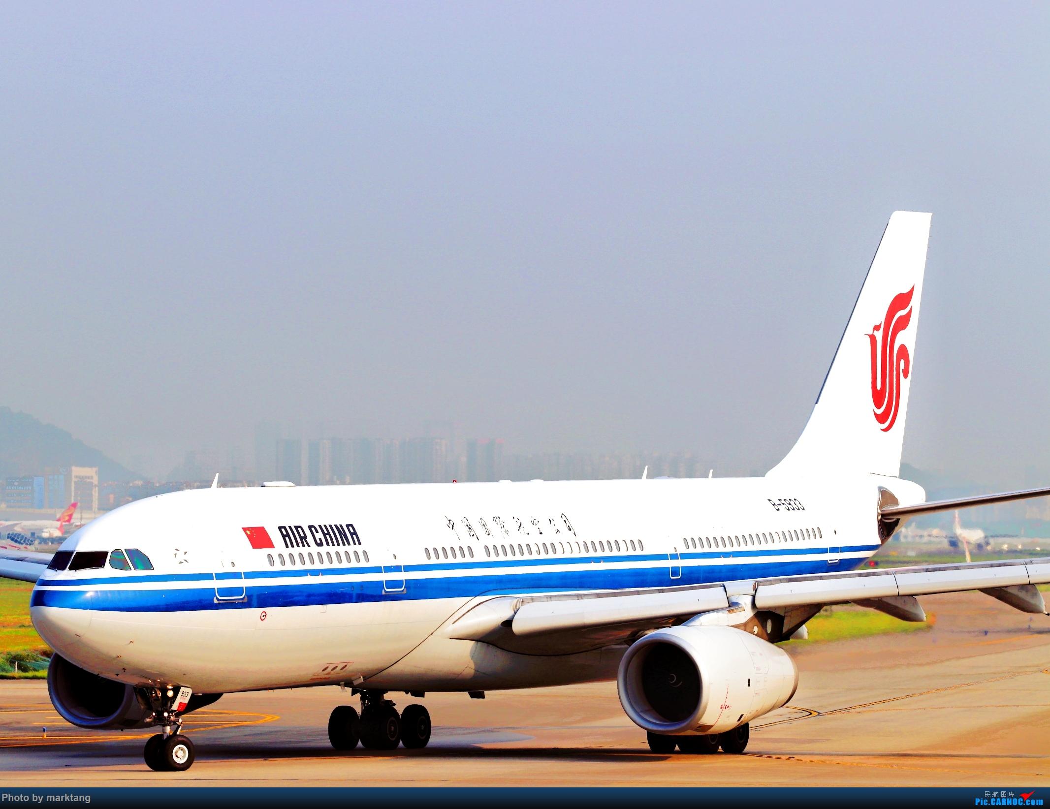 中国国际航空330-200 AIRBUS A330-200 B-5933 中国深圳宝安国际机场