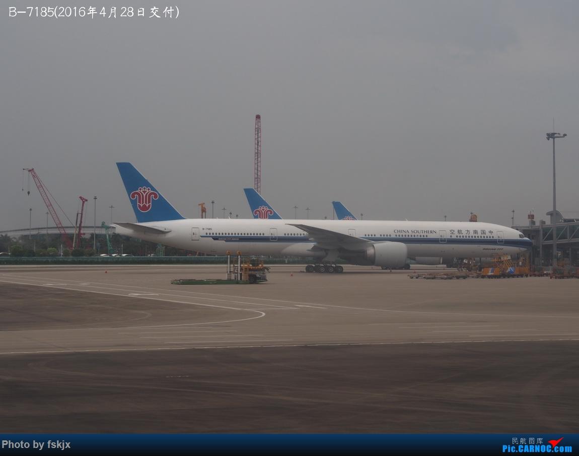 【fskjx的飞行游记☆85】保山周末游 BOEING 777-300ER B-7185 中国广州白云国际机场