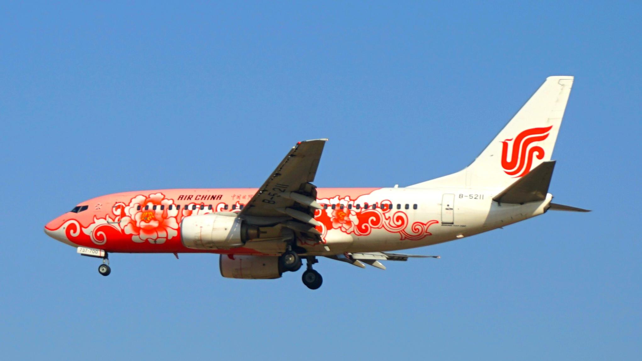 2.20PEK 01拍机 BOEING 737-700 B-5211 中国北京首都国际机场