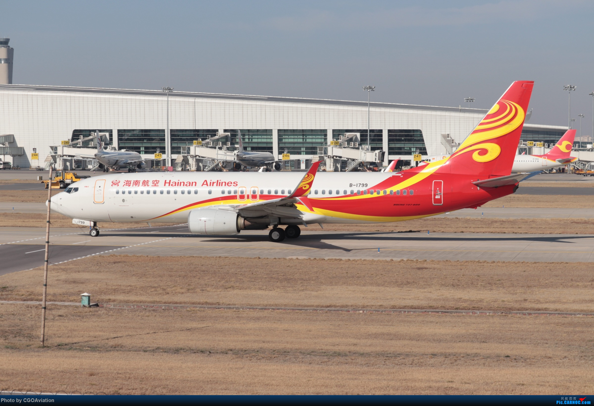 Re:CGO萌新之海航双刀 BOEING 737-800 B-1799 中国郑州新郑国际机场