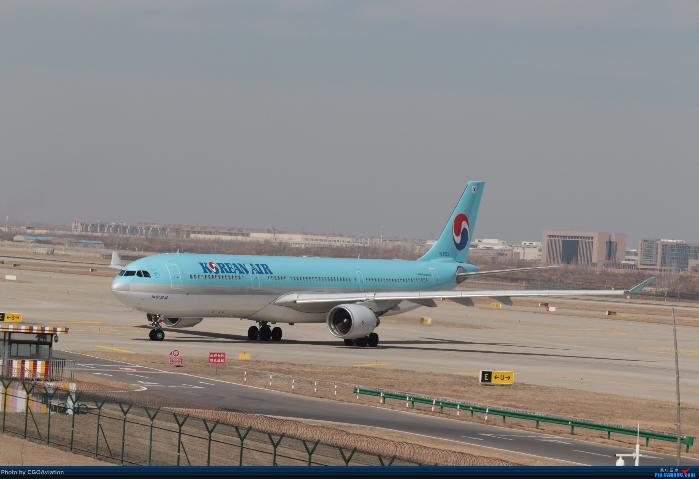 [原创]大韩航空333 AIRBUS A330-300 HL-7553 中国郑州新郑国际机场